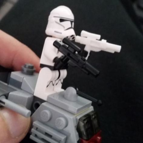 Lego storm trooper 3d