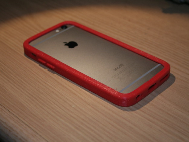 Coque lat rale rouge iphone 6 fichier pour imprimante 3d for Cuisine 3d pour iphone