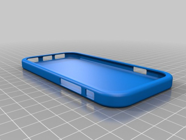Coque iphone 6 3D bleu