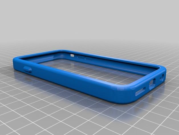 coque lat rale rouge iphone 6 fichier pour imprimante 3d. Black Bedroom Furniture Sets. Home Design Ideas